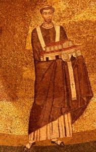 Onorio_I_-_mosaico_Santa_Agnese_fuori_le_mura