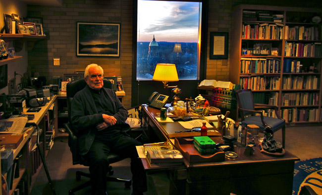 Fr._Ted_Hesburgh_in_his_Office_at_the_University_of_Notre_Dame